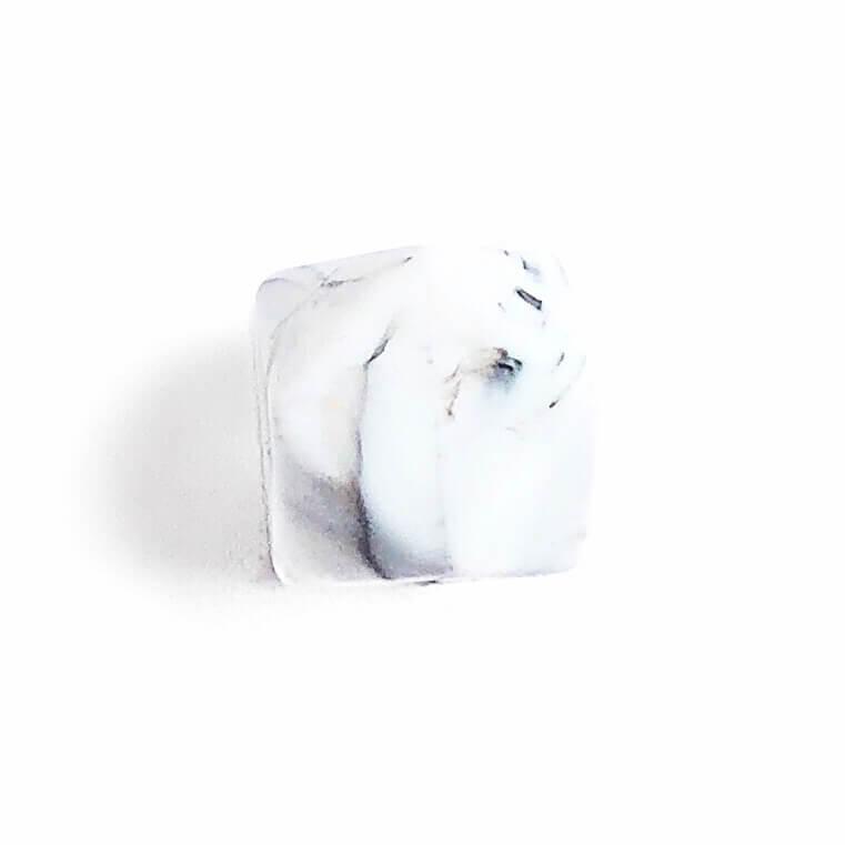 Гексагон 17мм (мрамор), силиконовые бусины