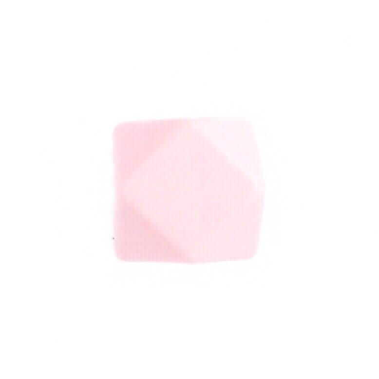 Гексагон 17мм (кварц), силиконовые бусины