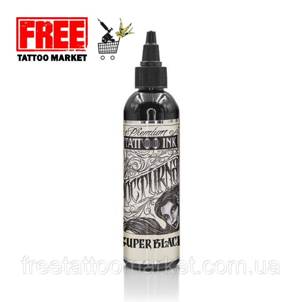 Краска для тату Nocturnal Tattoo Ink Super Black 1 унция (30 мл)