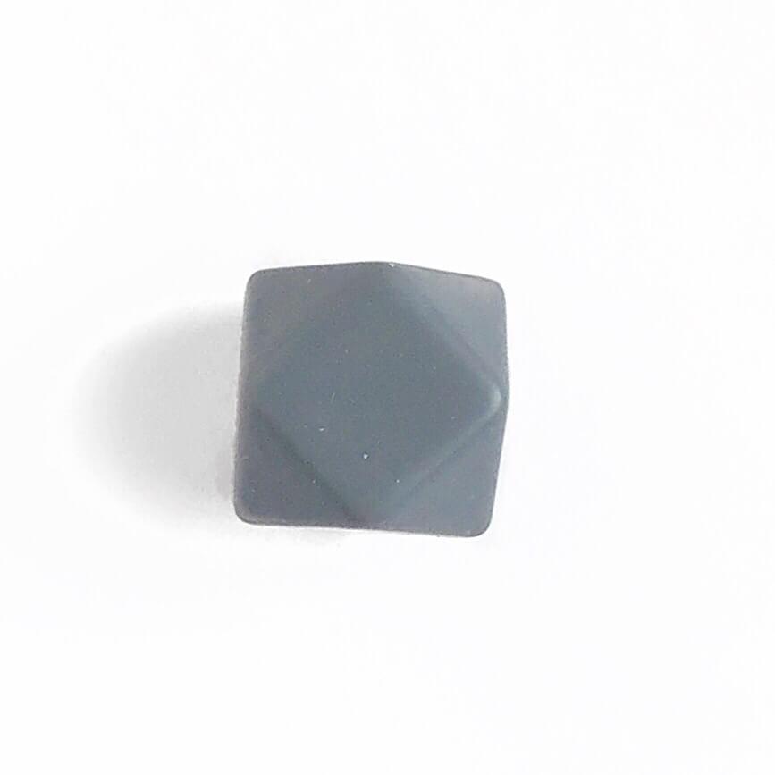 Гексагон 17мм (темно серый), силиконовые бусины