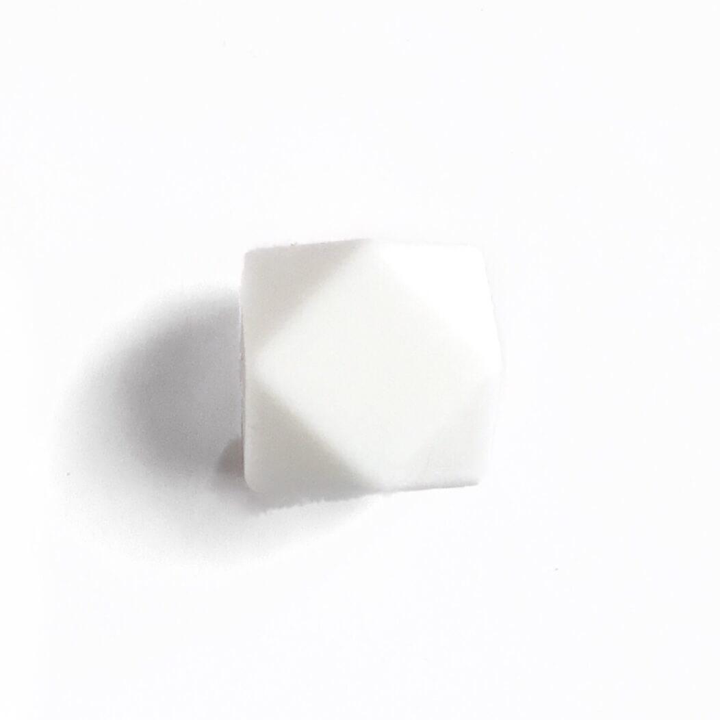 Гексагон 17мм (белый), силиконовые бусины