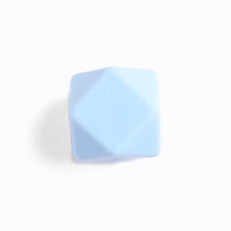 Гексагон 17мм (беби блю), силиконовые бусины