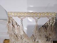 Бахрома шторная молочная с жемчужиной, моток 20 метров (для штор, ламбрекенов, тюли)