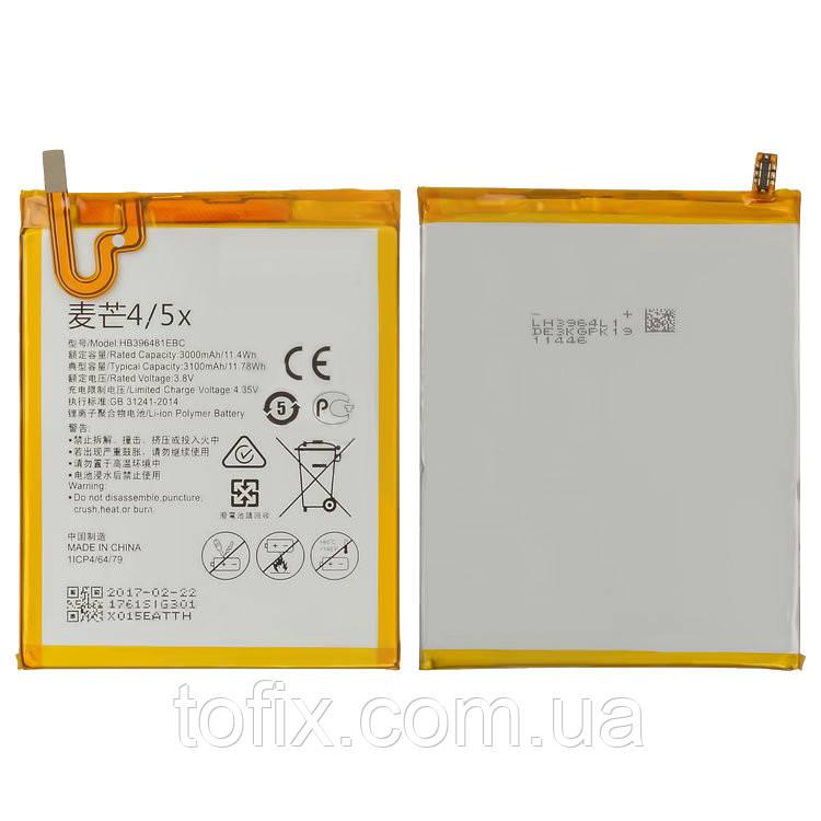 Батарея (акб, аккумулятор) HB396481EBC для Huawei Honor 6 H60-L02, 3100 mAh, оригинал
