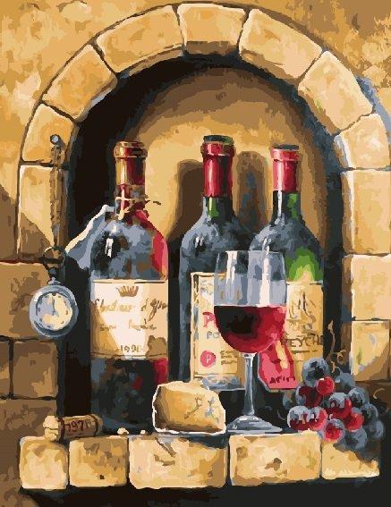Картина по номерам Винный набор, 40x50 см., Brushme