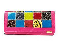 Розовый кожаный кошелек Qian xi lu новая модель