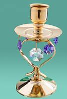 Подсвечники с кристаллами Swarovski для длинных свечей