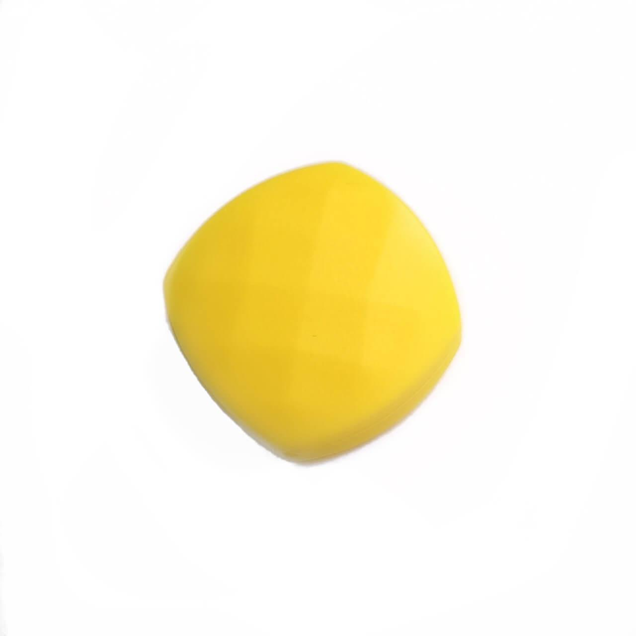 Ромб плоский (желтый) силиконовые бусины