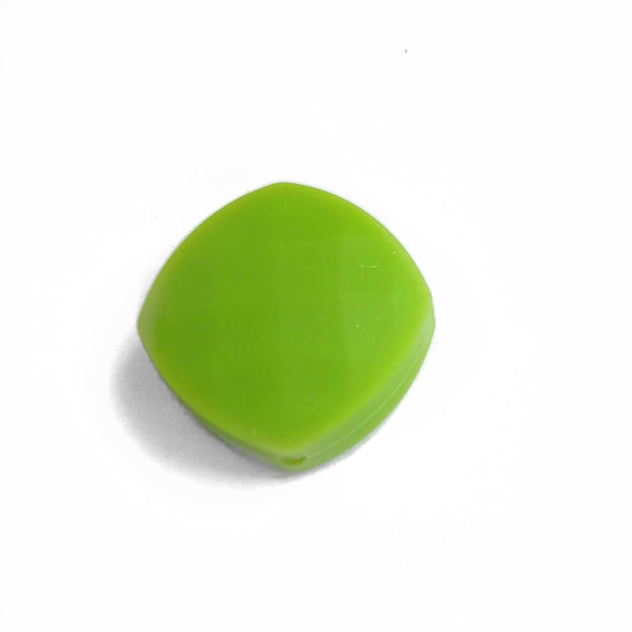 Ромб плоский (зеленый) силиконовые бусины