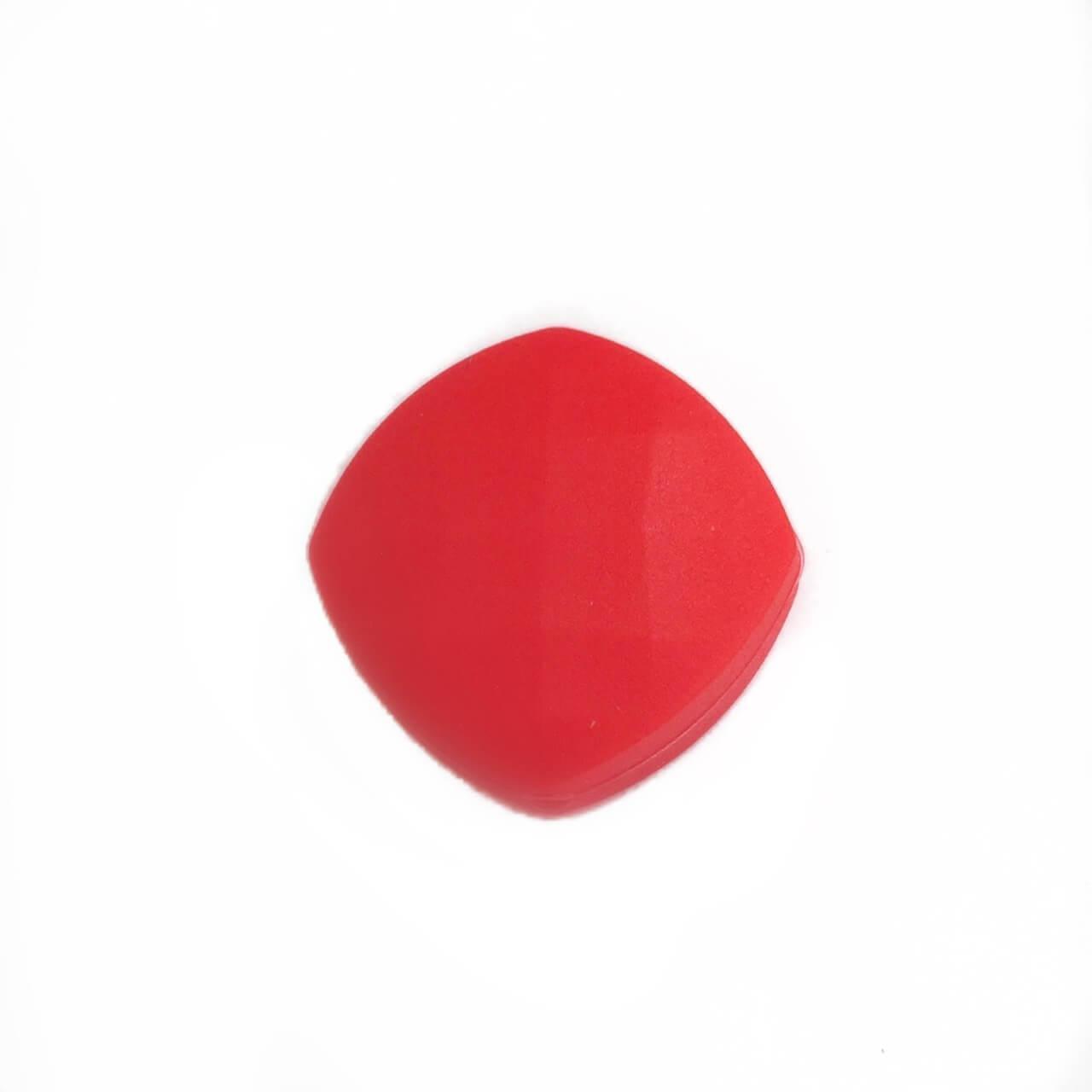 Ромб плоский (красный) силиконовые бусины