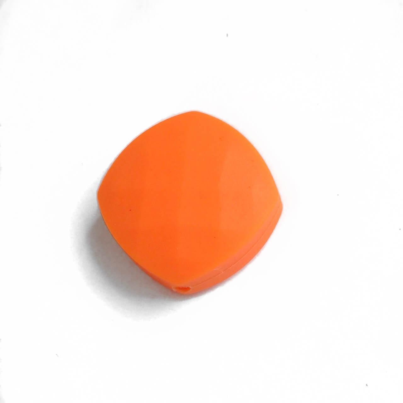 Ромб плоский (оранжевый) силиконовые бусины