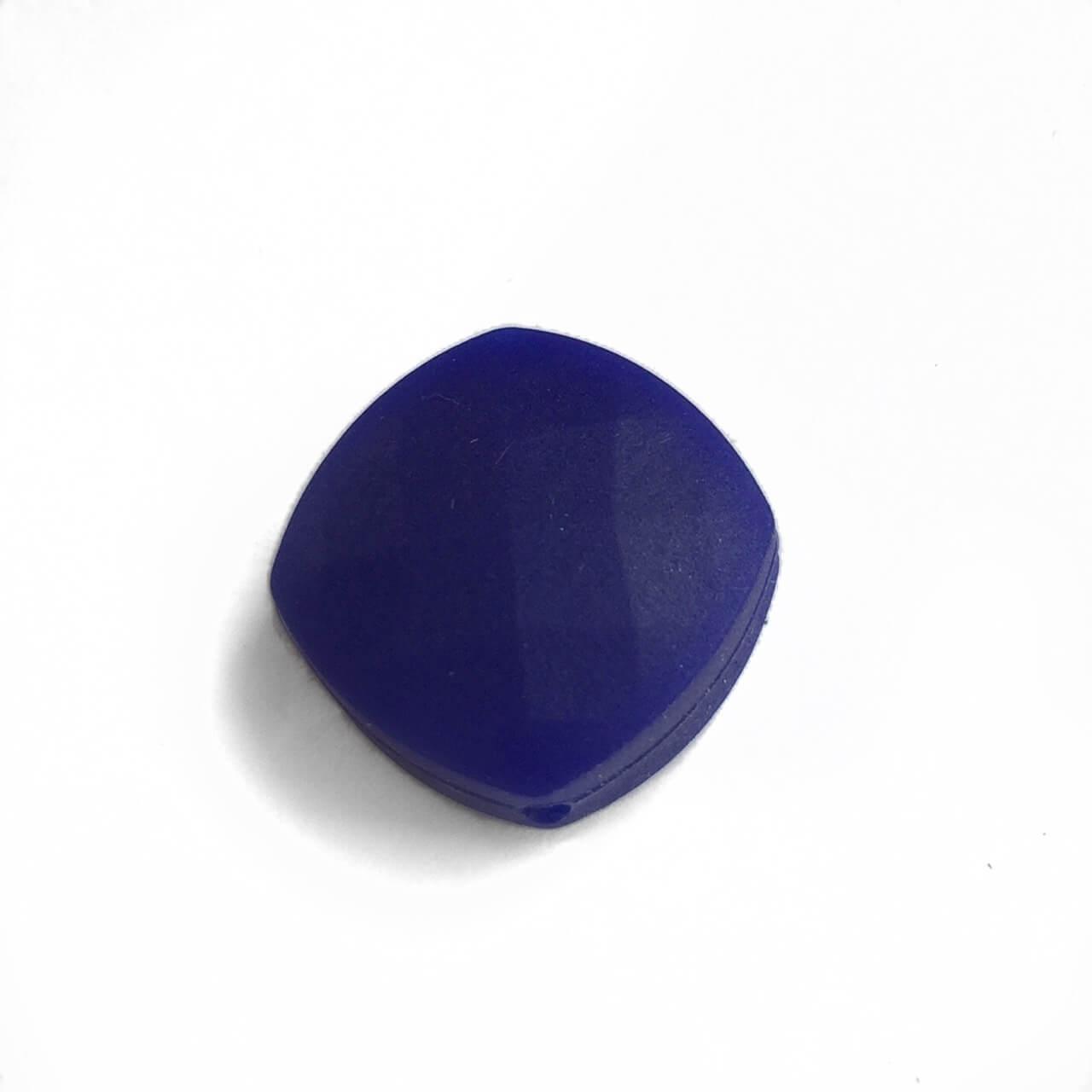 Ромб плоский (темно синий) силиконовые бусины