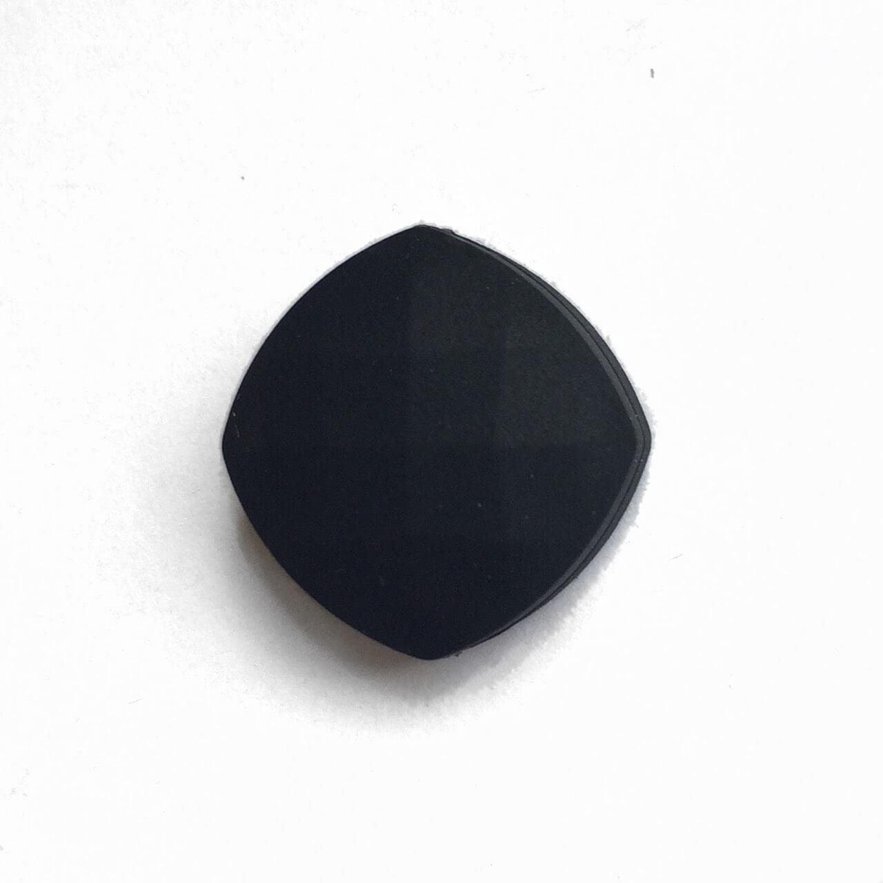 Ромб плоский (черный) силиконовые бусины