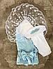 Летний набор на выписку Ангел (голубой)
