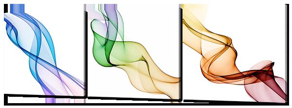 Модульная картина Interno Эко кожа Тройная абстракция 163х53см (А773XL)