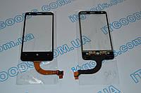 Оригинальный тачскрин / сенсор (сенсорное стекло) для Nokia Lumia 620 REV 1 (черный цвет, самоклейка)