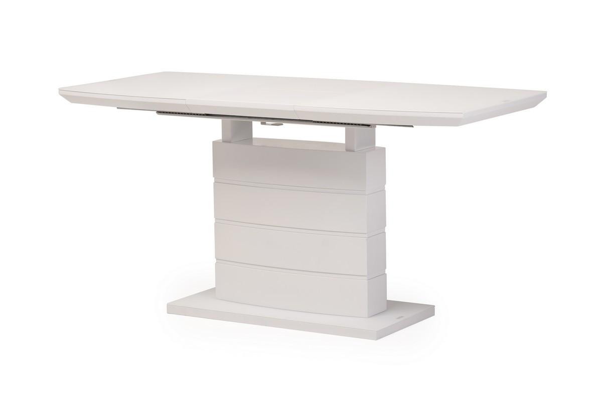 Раздвижной стол TMM-50-2 Vetro Mebel 110/150, матовый белый (бесплатная доставка)