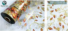 Прозора скатертину з лазерним малюнком ПВХ + рідке скло, товщина 1 мм, ширина 60 см (На метраж)