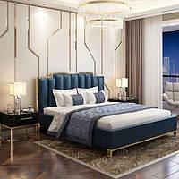 М'які стінові панелі з золотими вставками, м'які панелі з золотим профілем, панелі тканини на замовлення Одесі