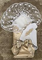 Летний набор на выписку Ангел (золото), фото 1
