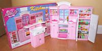 Кукольная мебель Глория Gloria 24016 Большая Кухня Барби, раковина, холодильник