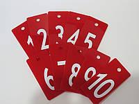 Номерки для ключей 100*50 мм красные, фото 1