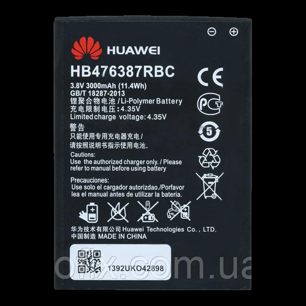Батарея (акб, аккумулятор) HB476387RBC для Huawei Honor 3X G750, 3000 mAh, оригинал
