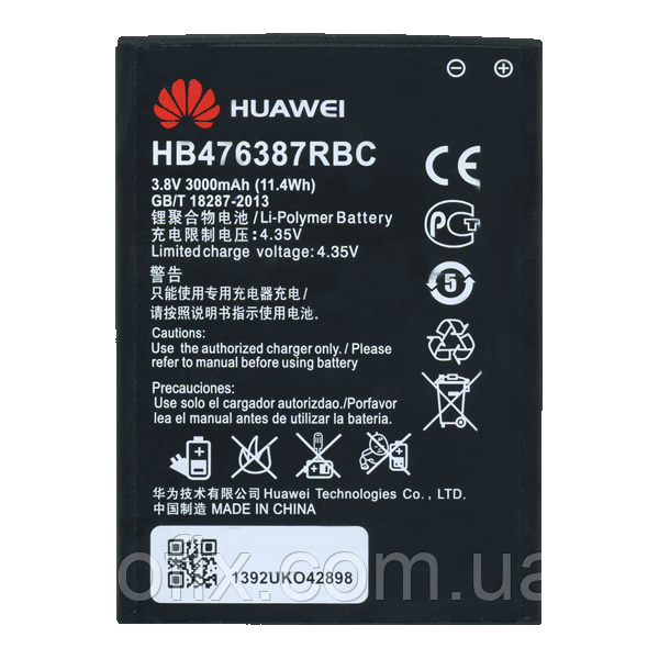 Батарея (акб, акумулятор) HB476387RBC для Huawei Honor 3X G750, 3000 mAh, оригінал