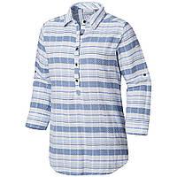c6801e19f3cd5c Женская рубашка-туника Columbia SUMMER EASE™ POPOVER TUNIC синяя  1837181-456 L