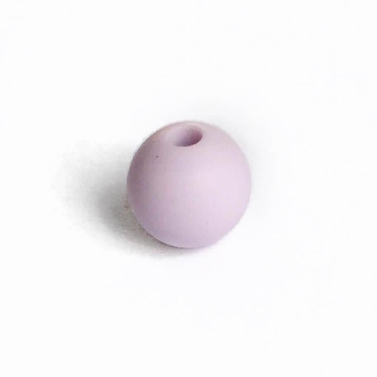 12мм (лаванда) круглая, силиконовая бусина