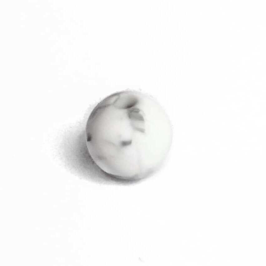 12мм (мрамор) круглая, силиконовая бусина