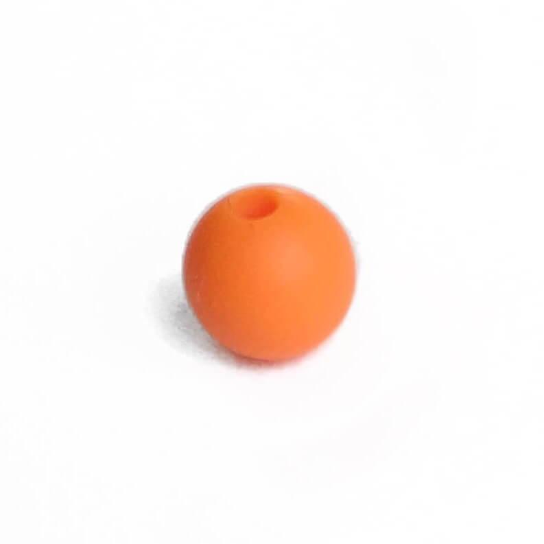 12мм (оранжевая) круглая, силиконовая бусина