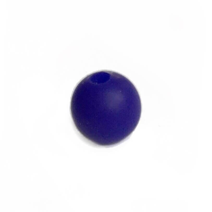 12мм (темно синий) круглая, силиконовая бусина