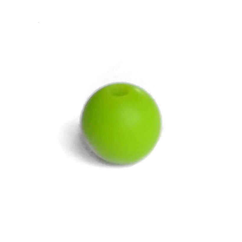 12мм (зеленый) круглая, силиконовая бусина