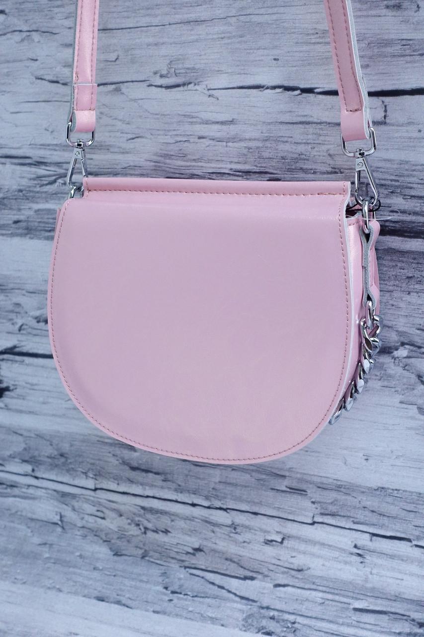 Небольшая стильная сумочка из натуральной кожи 3336-65 pink