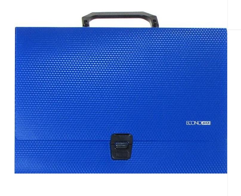 Портфель пластиковый А4 на застежке под нанесение, 1 отделение, синий N31607-02