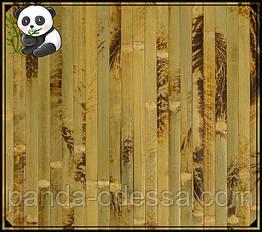 "Бамбуковые обои ""Черепаха"" оливковая, 0,9 м, ширина планки 17 мм / Бамбукові шпалери"