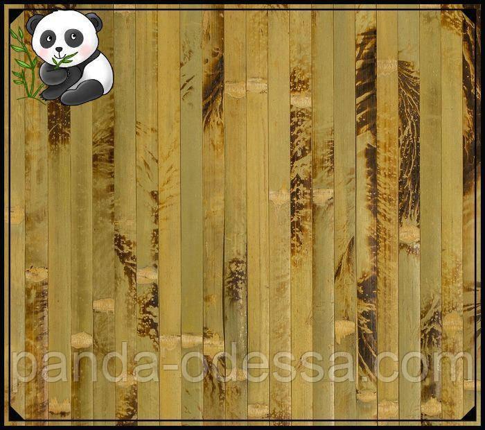"Бамбуковые обои ""Черепаха"" оливковая, 1,5 м, ширина планки 17 мм / Бамбукові шпалери"
