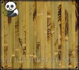 """Бамбукові шпалери """"Черепаха"""" оливковий, 1,5 м, ширина планки 17 мм / Бамбукові шпалери"""