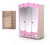Шкаф трехдверный с зеркалом Pn-03+Pn-07-3 мебель детская.