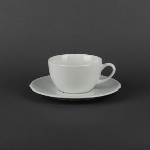 Чашка чайная белая 300 мл с блюдцем 185 мм Albergo/Jumbo Lubiana (1972,1692))