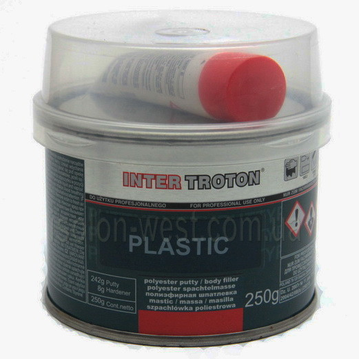 Troton Plastic 250мл. Шпатлевка  для ремонта торпед, дверних карт, потолков авто.