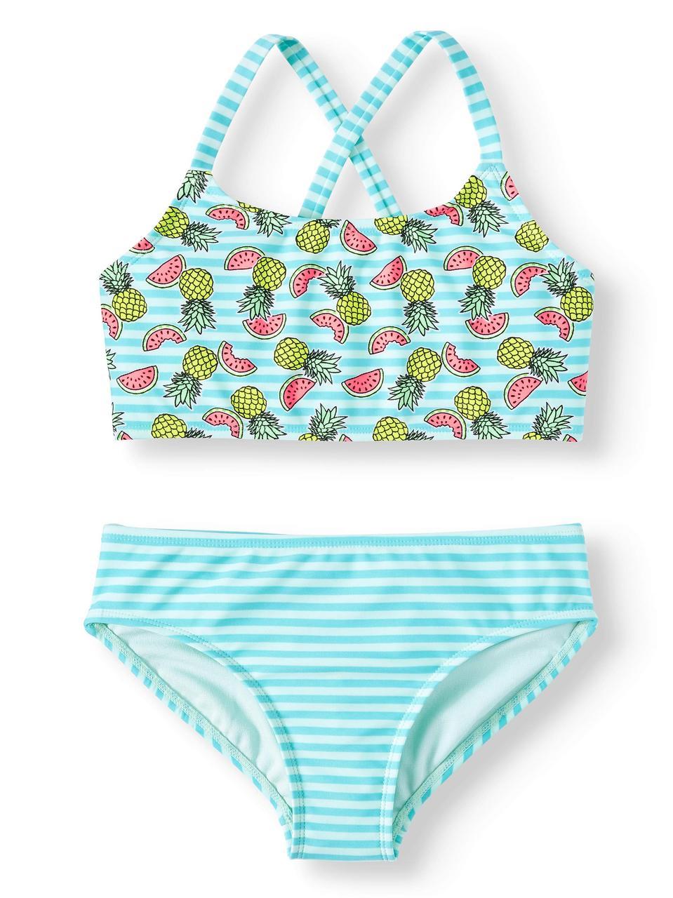 e237fd422fe28 Купальник для девочек США на рост 140-155 см раздельный Summer Taste  детские купальники -