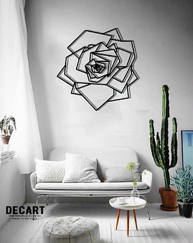 Декоративное панно из дерева Роза