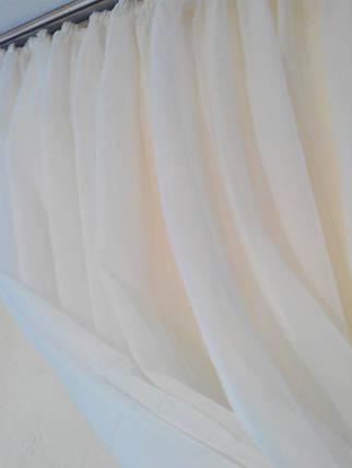 Готовая тюль-вуаль Молочная (Ваниль), фото 2