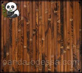 "Бамбуковые обои ""Черепаха"" шоколадная, 0,9 м, ширина планки 17 мм / Бамбукові шпалери"