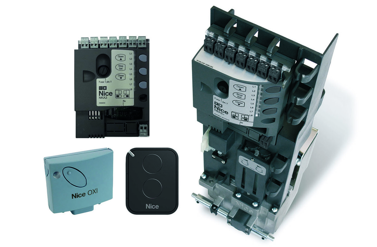 NICE NKSL400 KCE — автоматика для откатных ворот (створка до 400 кг, установка в колонну)