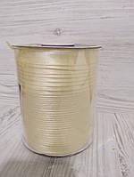 Атласная косая бейка молочного цвета для окантовки, ширина 15 мм моток 100 м