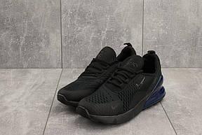 Мужские кроссовки Nike Air Max 270,черные с синим, фото 2