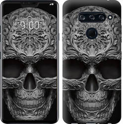 "Чехол на LG V40 ThinQ skull-ornament ""4101c-1577-328"""